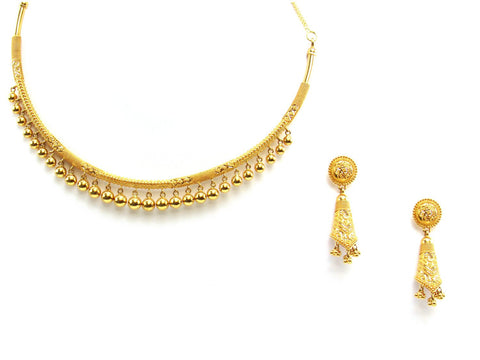47.40g 22Kt Gold Yellow Necklace Set 2431