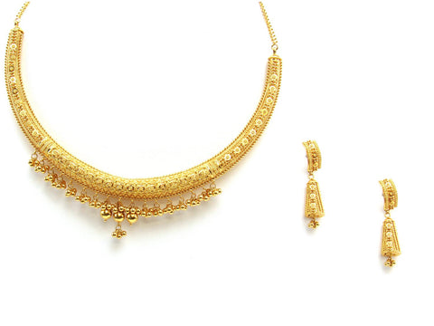 67.80g 22Kt Gold Yellow Necklace Set 2432