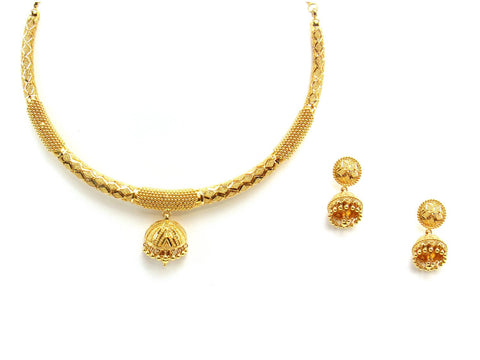 53.80g 22Kt Gold Yellow Necklace Set 2433