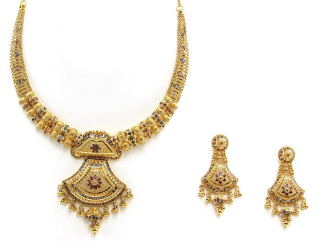 55.50g 22Kt Gold Yellow Necklace Set 2435