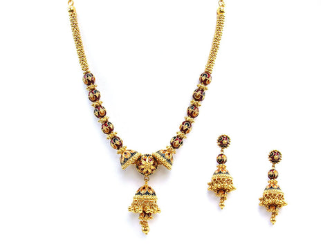 69.60g 22Kt Gold Yellow Necklace Set 2436