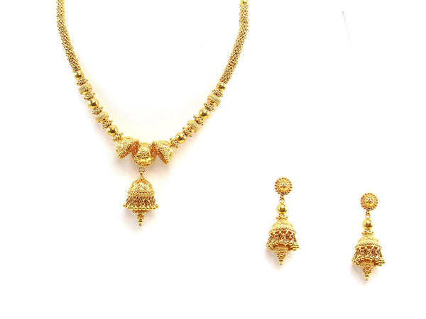 66.45g 22Kt Gold Yellow Necklace Set 2437
