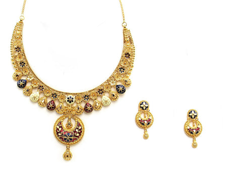 61.50g 22Kt Gold Yellow Necklace Set 2438