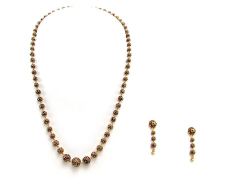36.00g 22Kt Gold Yellow Necklace Set 2439