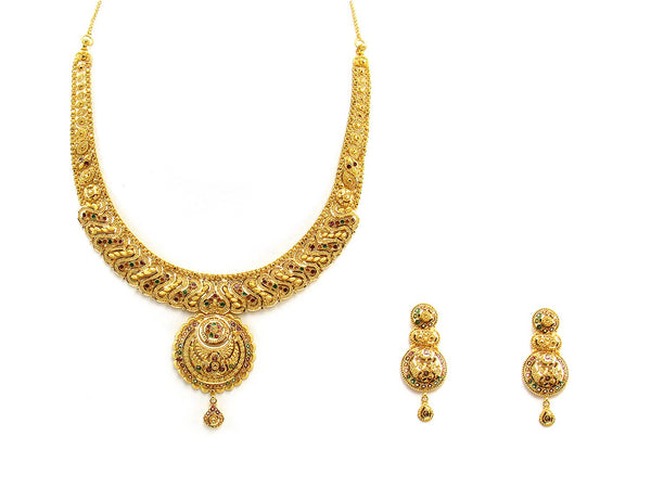 46.60g 22Kt Gold Yellow Necklace Set 2440