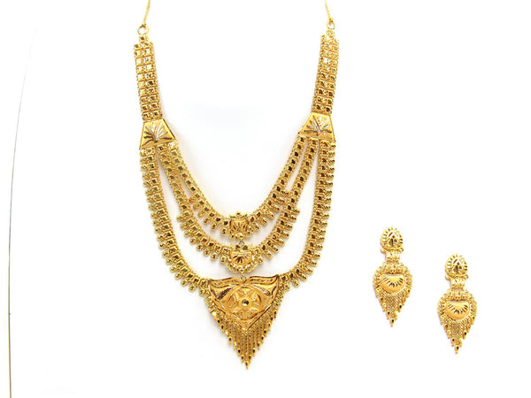 35.20g 22Kt Gold Yellow Necklace Set 2442