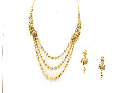 40.40g 22Kt Gold Yellow Necklace Set 2443