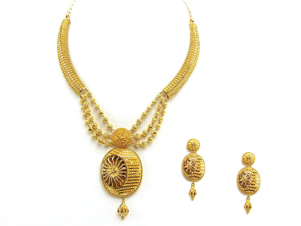 46.50g 22Kt Gold Yellow Necklace Set