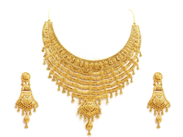 90.00g 22Kt Gold Yellow Necklace Set