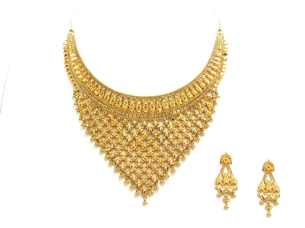 55.33g 22Kt Gold Yellow Necklace Set