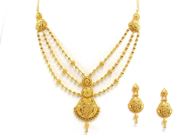 58.70g 22Kt Gold Yellow Necklace Set