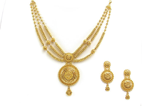 61.00g 22Kt Gold Yellow Necklace Set
