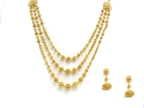 68.55g 22Kt Gold Yellow Necklace Set