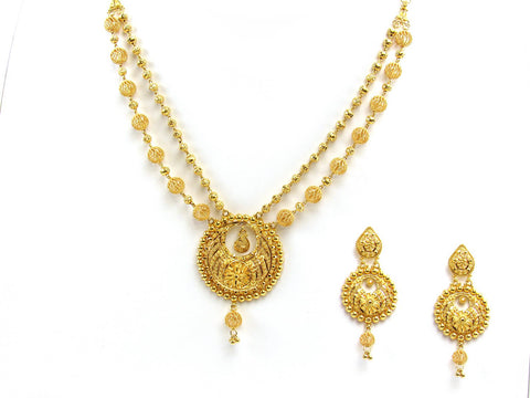 50.25g 22Kt Gold Yellow Necklace Set