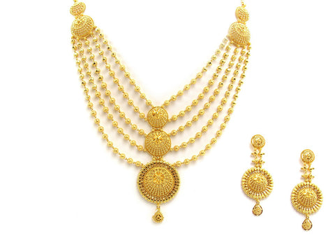 84.80g 22Kt Gold Yellow Necklace Set