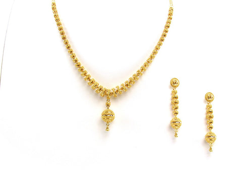57.20g 22Kt Gold Yellow Necklace Set