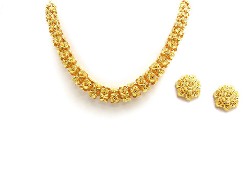 52.90g 22Kt Gold Yellow Necklace Set