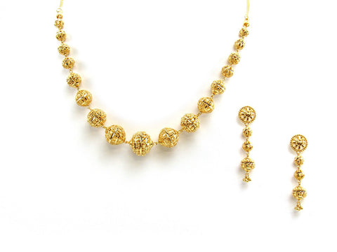 46.30g 22Kt Gold Yellow Necklace Set