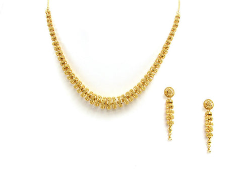 52.50g 22Kt Gold Yellow Necklace Set