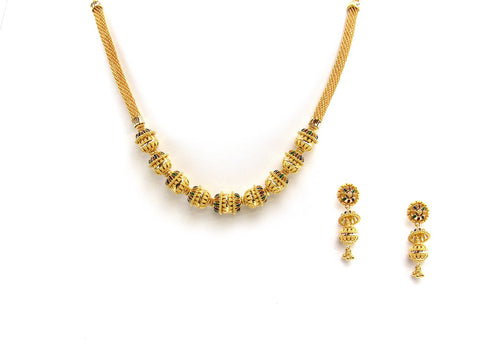 51.90g 22Kt Gold Yellow Necklace Set