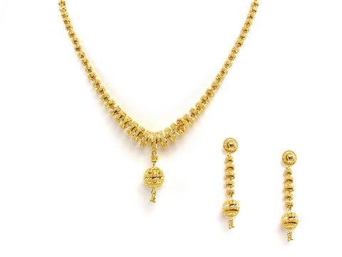 60.60g 22Kt Gold Yellow Necklace Set