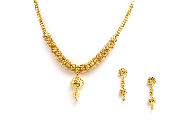 43.60g 22Kt Gold Yellow Necklace Set