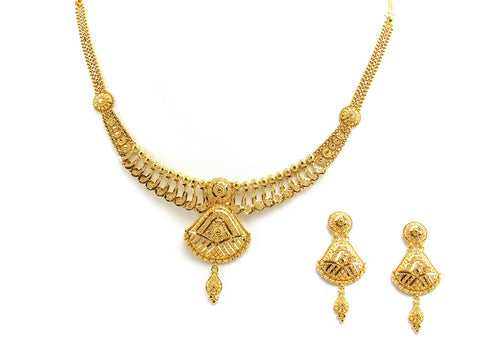 33.80g 22Kt Gold Yellow Necklace Set