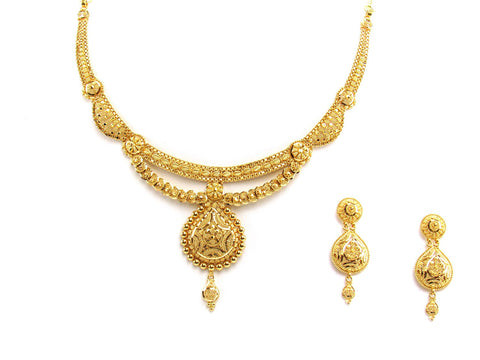 37.50g 22Kt Gold Yellow Necklace Set