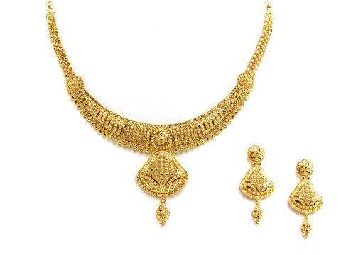 41.50g 22Kt Gold Yellow Necklace Set