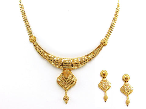 37.00g 22Kt Gold Yellow Necklace Set