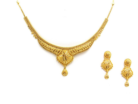 31.20g 22Kt Gold Yellow Necklace Set