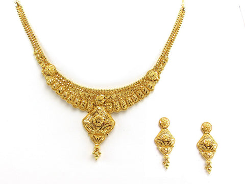 39.20g 22Kt Gold Yellow Necklace Set