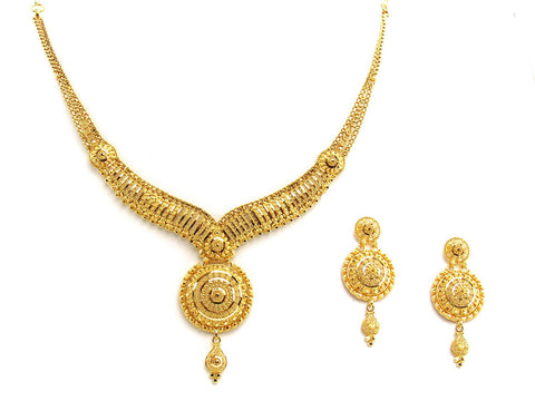 34.40g 22Kt Gold Yellow Necklace Set