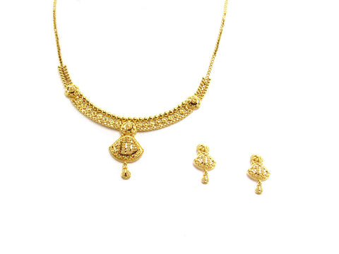 22.70g 22Kt Gold Yellow Necklace Set
