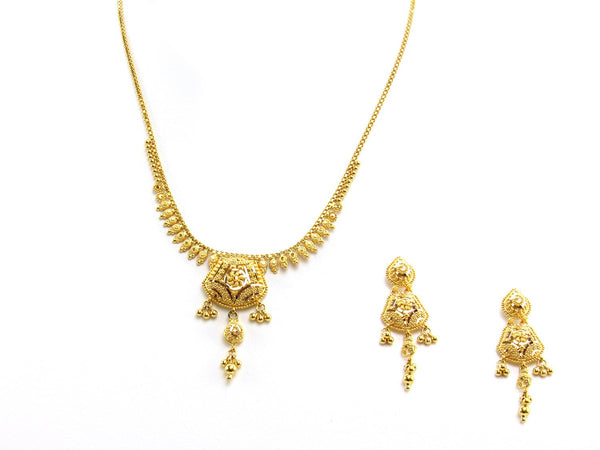 21.20g 22Kt Gold Yellow Necklace Set