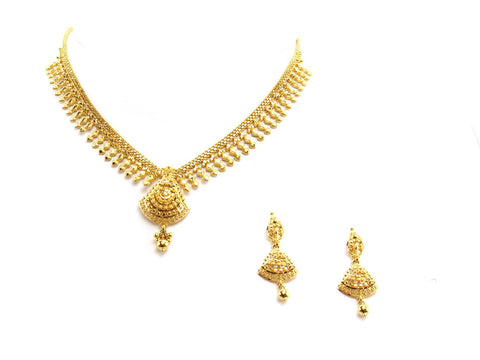 28.10g 22Kt Gold Yellow Necklace Set