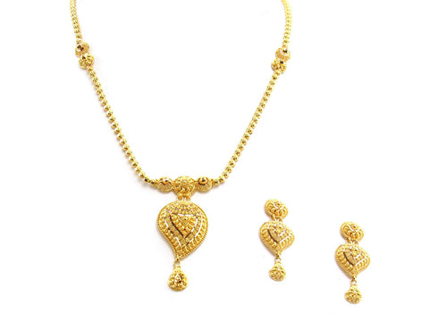 27.70g 22Kt Gold Yellow Necklace Set