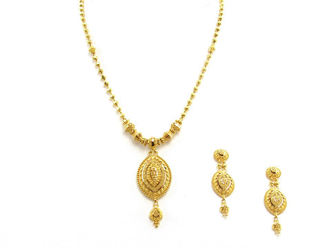34.70g 22Kt Gold Yellow Necklace Set