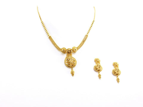 22.50g 22Kt Gold Yellow Necklace Set