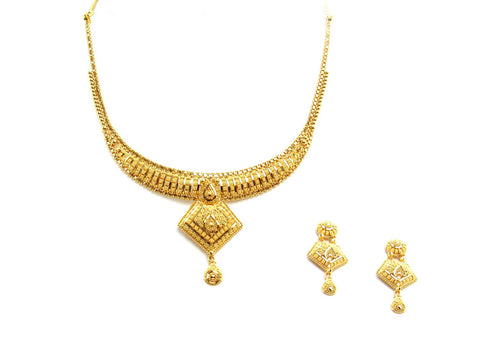 27.90g 22Kt Gold Yellow Necklace Set