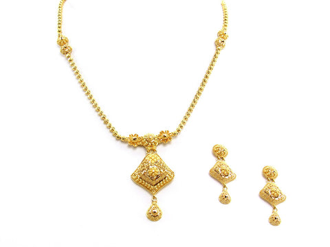 25.60g 22Kt Gold Yellow Necklace Set
