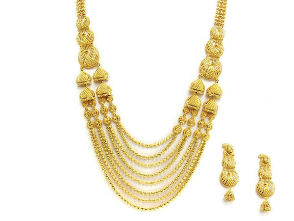 125.25g 22Kt Gold Yellow Necklace Set