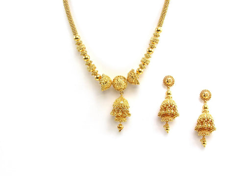 61.10g 22Kt Gold Yellow Necklace Set