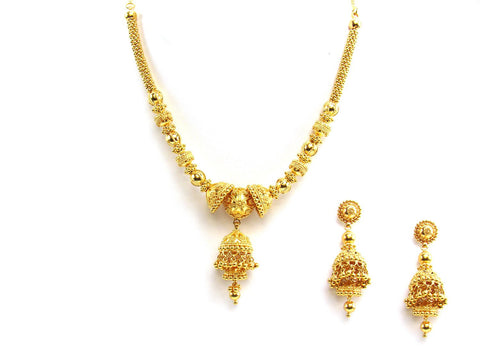 66.25g 22Kt Gold Yellow Necklace Set