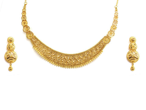 47.65g 22Kt Gold Yellow Necklace Set