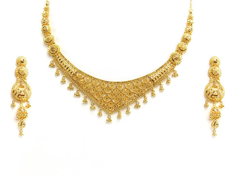 58.30g 22Kt Gold Yellow Necklace Set