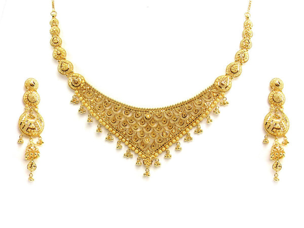 62.20g 22Kt Gold Yellow Necklace Set