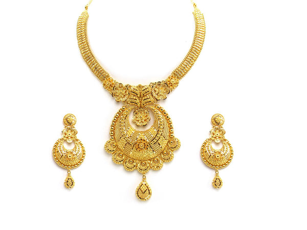 88.85g 22Kt Gold Yellow Necklace Set