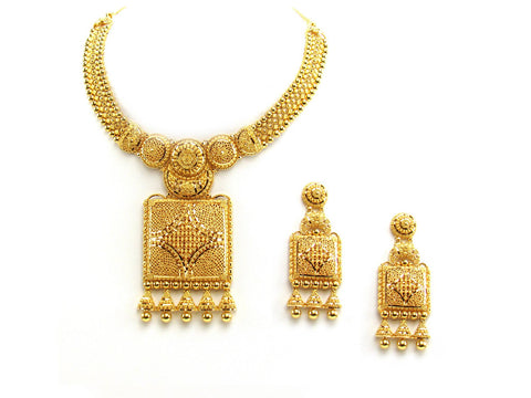 87.65g 22Kt Gold Yellow Necklace Set