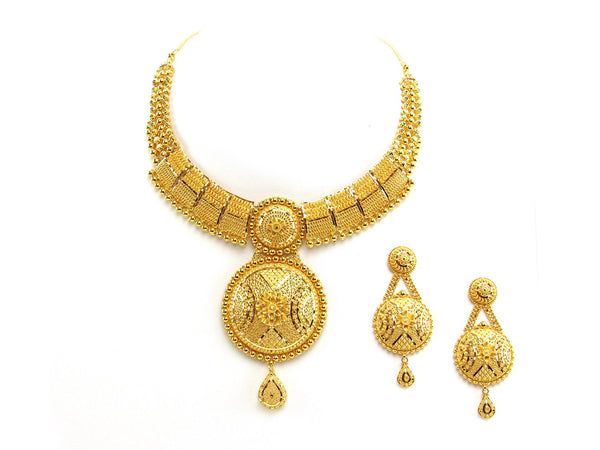 78.25g 22Kt Gold Yellow Necklace Set